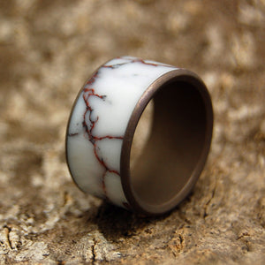 ACROSS THE WILD HORSE PLAINS | Wild Horse Jasper Stone - Unique Wedding Ring - Minter and Richter Designs