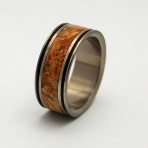Men's Wedding Rings - Titanium Wooden Wedding Bands | ALCHEMIST - Minter and Richter Designs