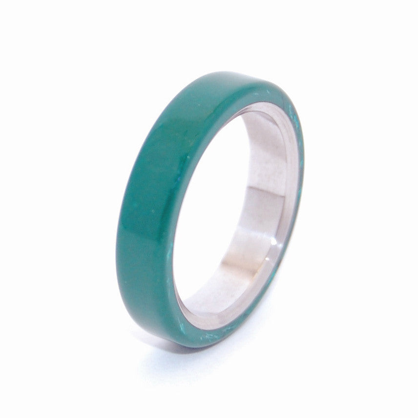 All I Want is You and Jade | Titanium Jade Wedding Rings