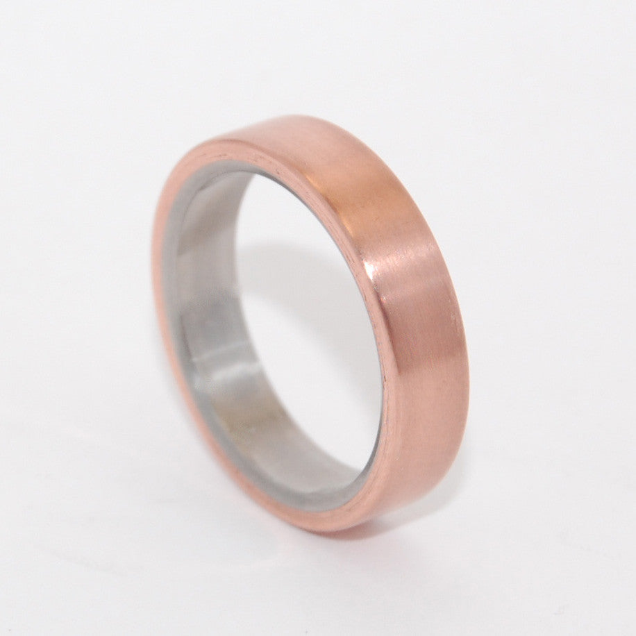 ALLEMANDE | Copper & Titanium Wedding Rings - Minter and Richter Designs