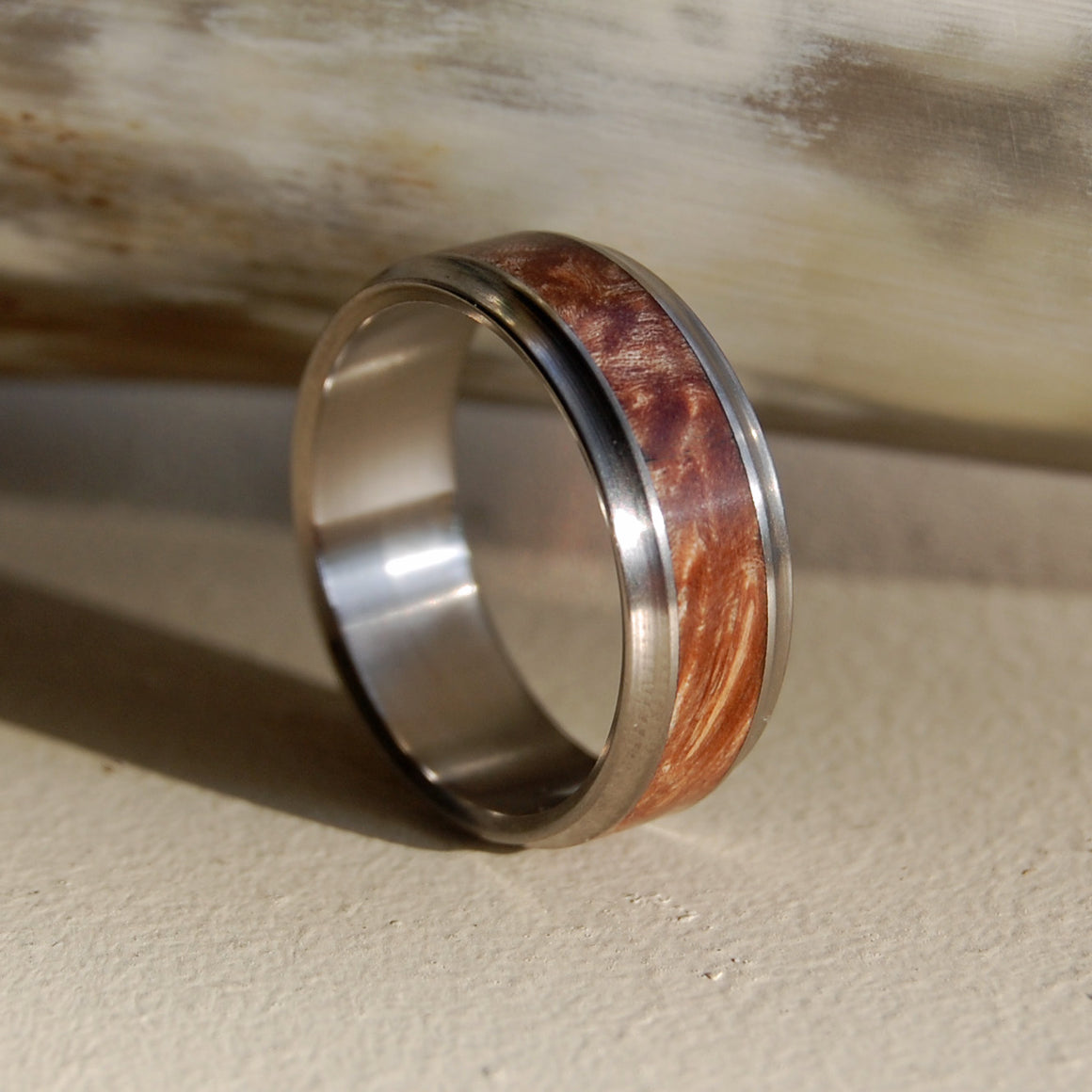 AMBOYNA WINDHAM | Handcrafted Wooden Wedding Rings - Minter and Richter Designs