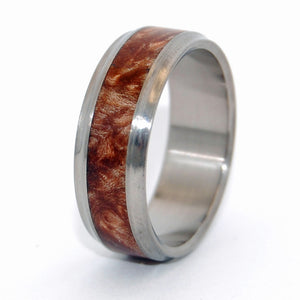 Amboyna Windham | Handcrafted Wooden Wedding Rings