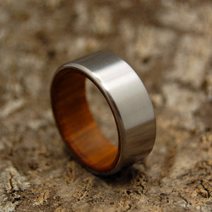 ANCIENT KAURI KORE | Kauri Wood Titanium Men's Wedding Rings - Minter and Richter Designs