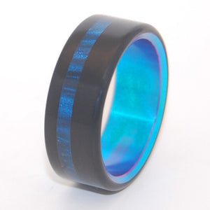 Moonswell | Thin Blue Line - Titanium Wedding Ring - Minter and Richter Designs