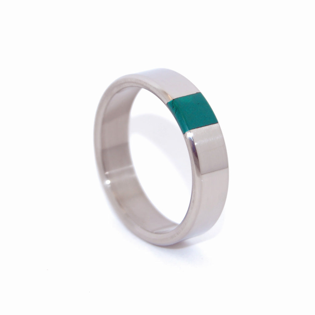 ARRANT JADE | Titanium & Jade Stone Wedding Rings - Minter and Richter Designs