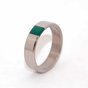 Arrant Jade | Titanium and Jade Wedding Ring