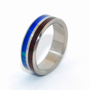 Jungle | Stone and Wood Titanium Wedding Ring