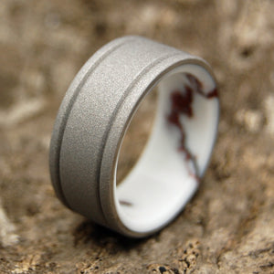 Baltic Wild Horse | Mens Handcrafted Titanium Wedding Ring