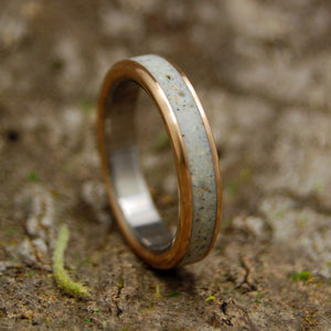 Beach Sand Wedding Ring - Handcrafted Women's Titanium Wedding Rings | BEACH SAND AND COPPER