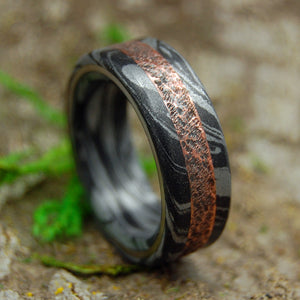 Mens Wedding Rings - Custom Mens Rings - Black Rings | COPPER SMACKDOWN