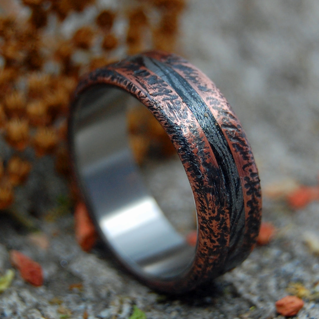 Copper Titanium Mens Ring | ROUGH, READY AND REFINED