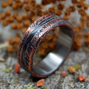 ROUGH, READY & REFINED | Copper & M3 Titanium Mens Ring - Minter and Richter Designs