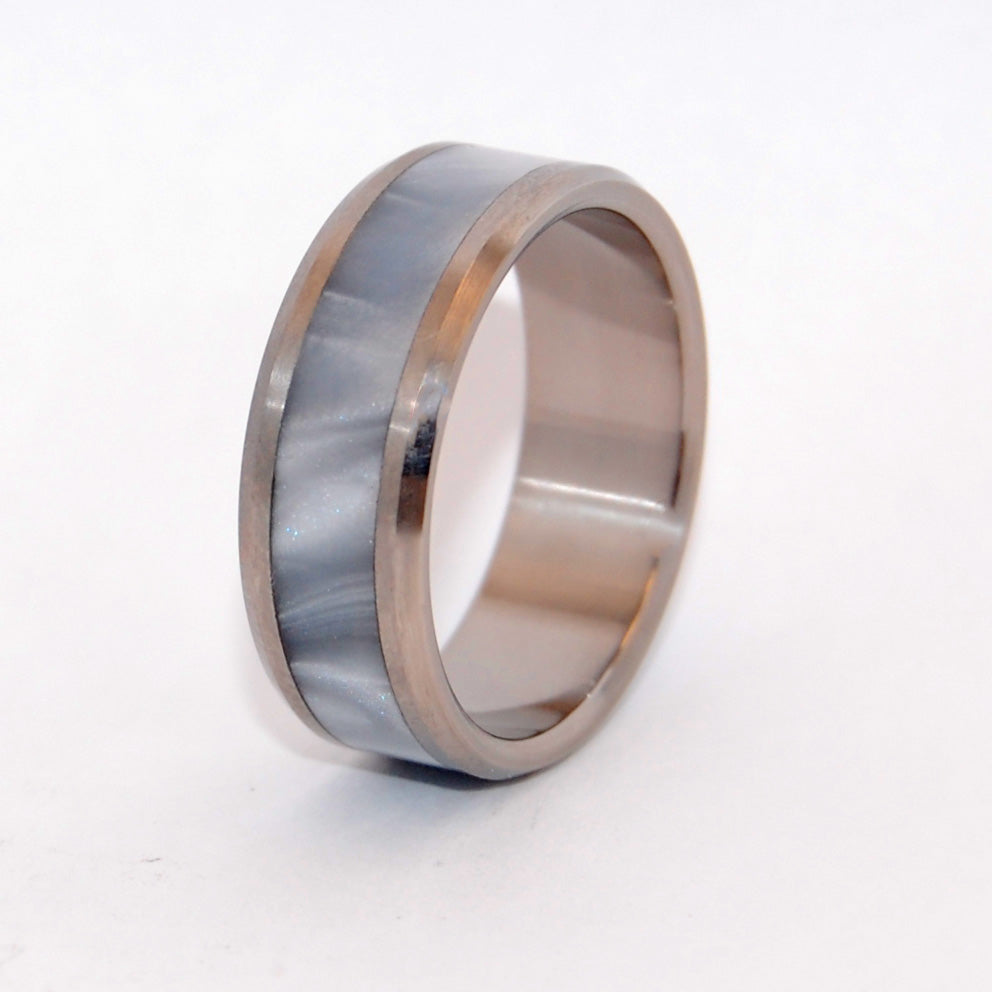 Beveled Astaire | Handcrafted Titanium Wedding Rings