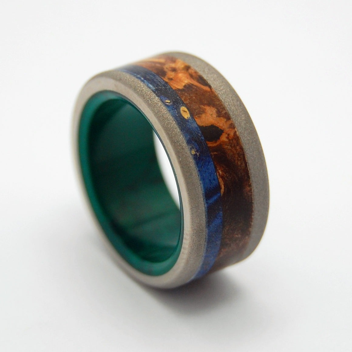 Shikoku Island | Wood and Stone Wedding Ring