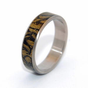 Golden Heart | Mokume Gane Wedding Ring