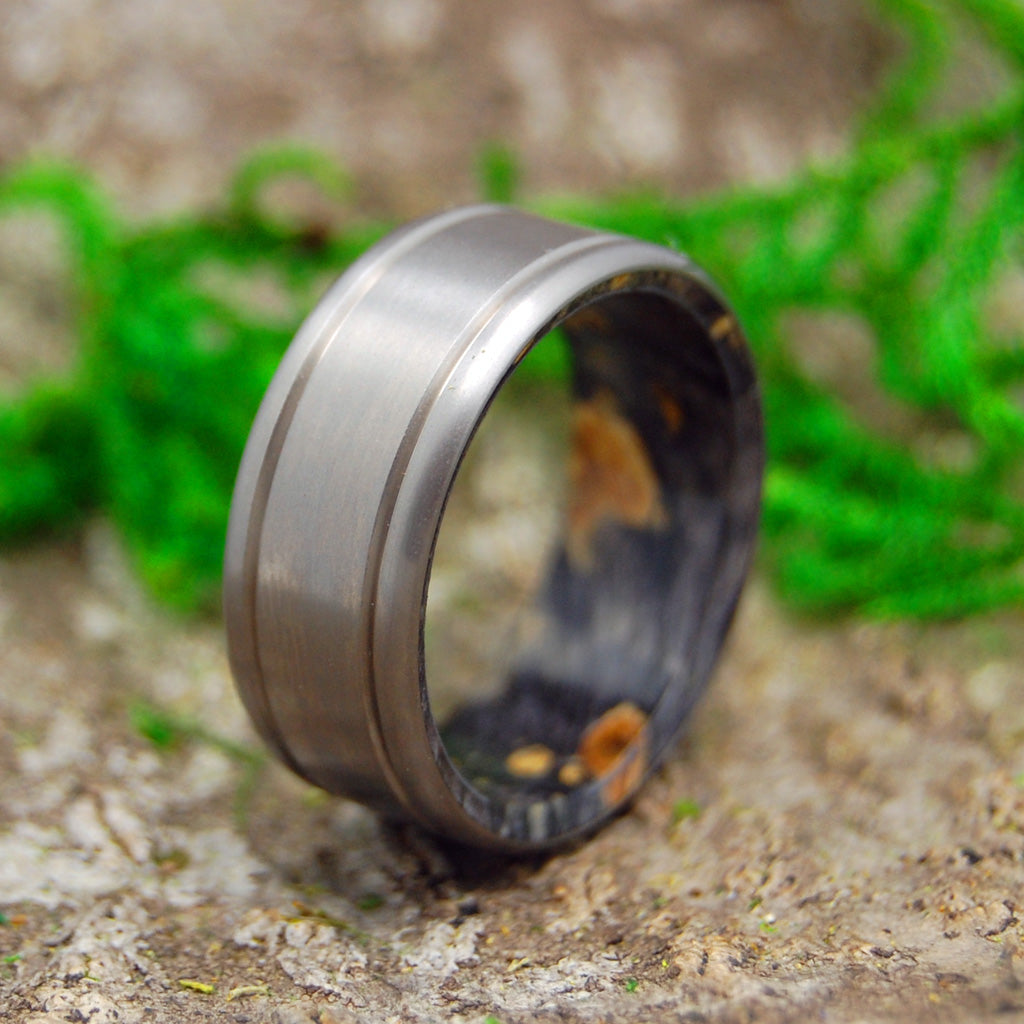 IT'S YOU | Black Box Elder Wood Titanium Wedding Rings - Minter and Richter Designs