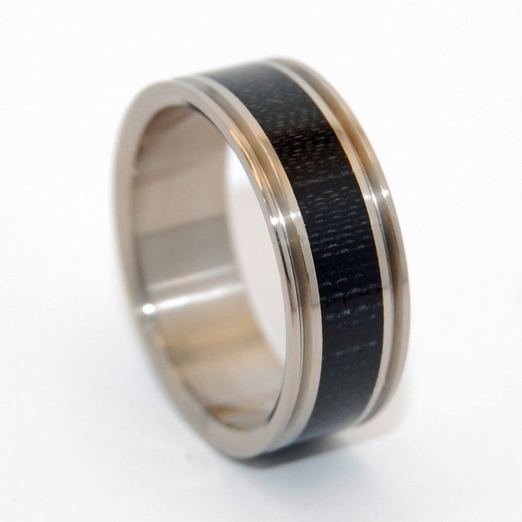Carbon Fiber Man | Handcrafted Titanium Wedding Ring - Minter and Richter Designs