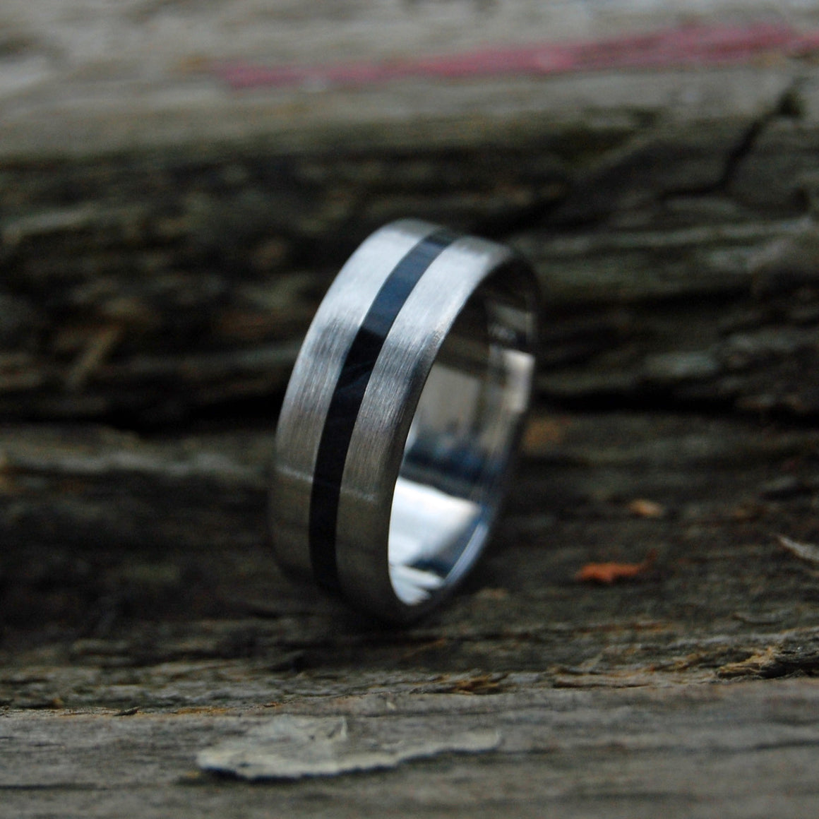 O'Connor - Inox Steel | Black Rings - Steel Wedding Ring - Minter and Richter Designs