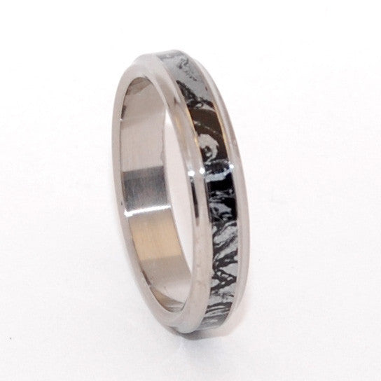 Meiko | Mokume Gane and Titanium Promise Ring - Minter and Richter Designs