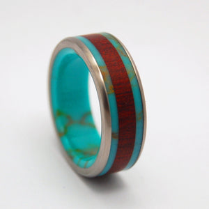 Blood and Gold | Tibetan Turquoise Wedding Ring