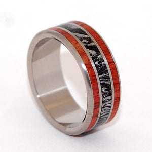 Silver Lining | M3 and Wood - Titanium Wedding Ring