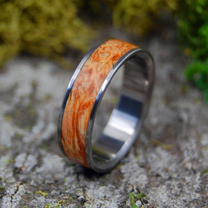 Bloom | SIZE 7.75 AT 6.4MM | Brown Box Elder Wood | Unique Wedding Rings | On Sale - Minter and Richter Designs