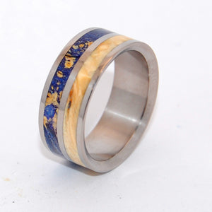 MY TWIN HEART | Box Elder Wood Titanium Wedding Rings - Minter and Richter Designs