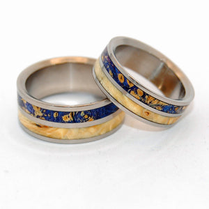 My Twin Heart | Titanium Matching Wedding Rings