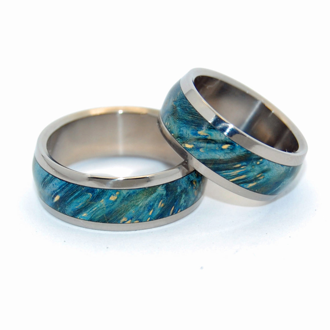 Te Amo | Handcrafted Titanium Wooden Wedding Rings