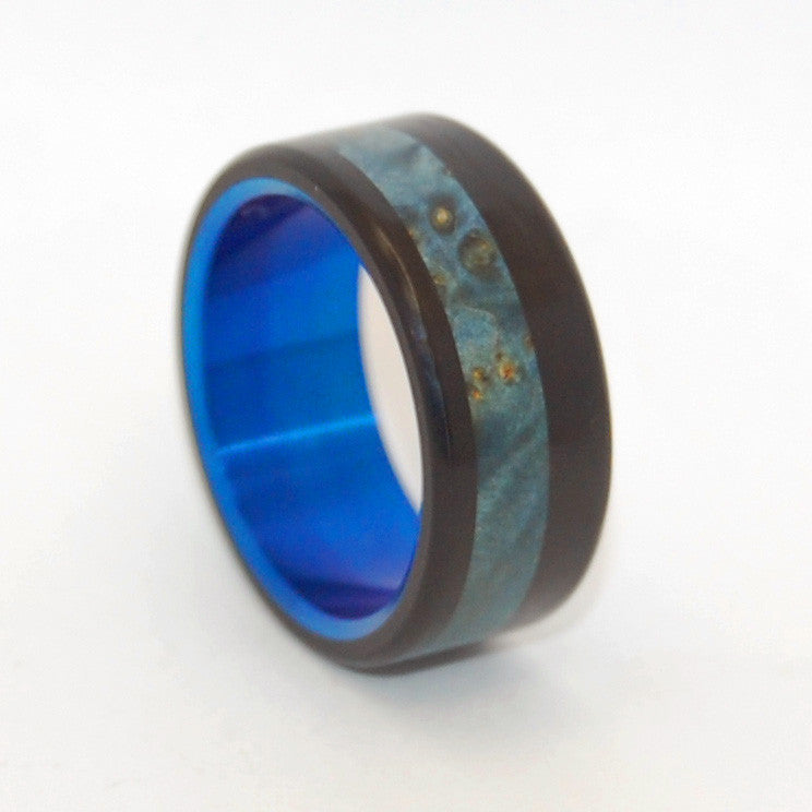 Blue Galway | Wood and Titanium Wedding Ring