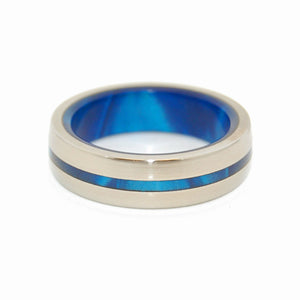 Men's Titanium Wedding Ring - Unique Wedding Rings | DOUBLY INSPIRED BY BLUE - Minter and Richter Designs
