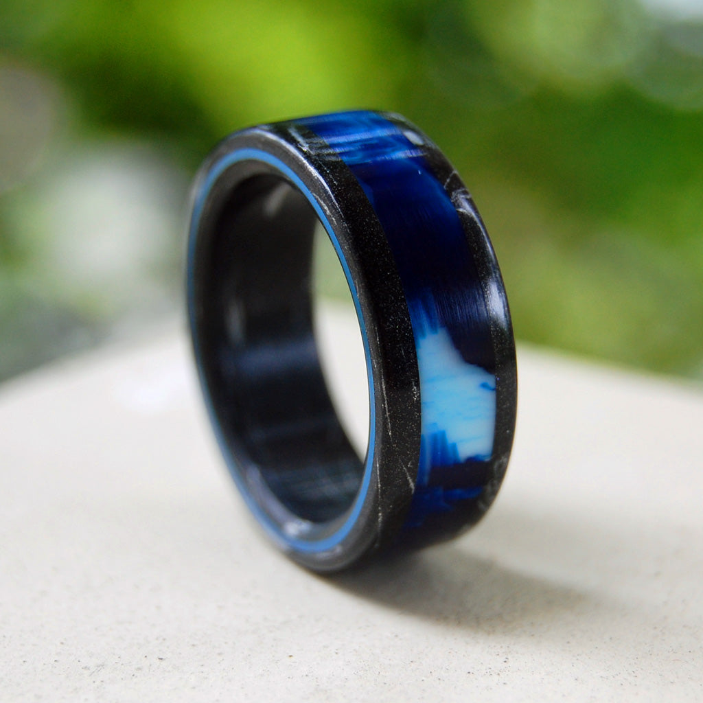Greek God Vintage | Black Rings - Wedding Rings - Unique Rings