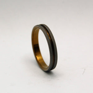 BOLD AS LOVE BRONZE | Bronze Titanium - Unique Wedding Rings - Women's Wedding Rings - Minter and Richter Designs
