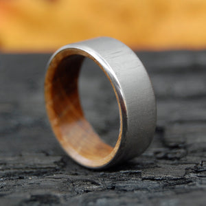 BULLY BOY AFTER HOURS | Whiskey Barrel Wood Titanium Wedding Rings - Minter and Richter Designs