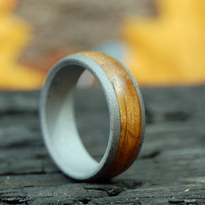 BULLY BOY TO THE DOME | Whiskey Barrel Wood Titanium Wedding Rings - Minter and Richter Designs