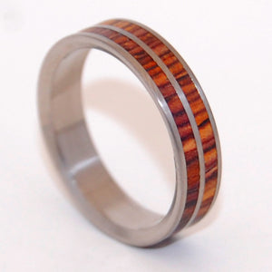 Handcrafted Wooden Wedding Ring - Titanium Ring | BY MY SIDE