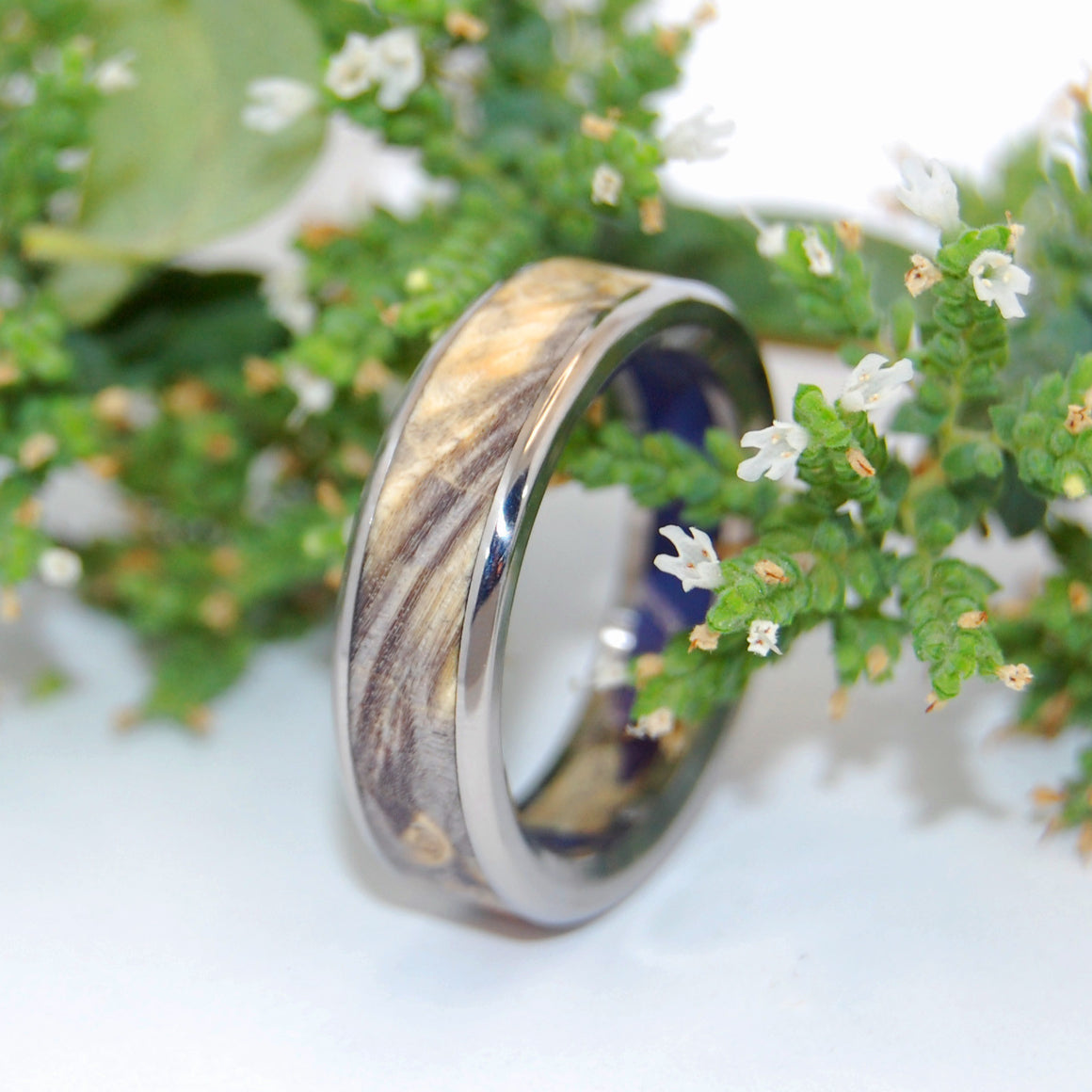 EYES IN YOUR DIRECTION | Buckeye Wood & Box Elder Wood - Unique Wooden Wedding Rings - Minter and Richter Designs