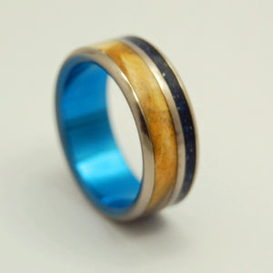 California Blue | Concrete and Wood Titanium Wedding Ring - Minter and Richter Designs