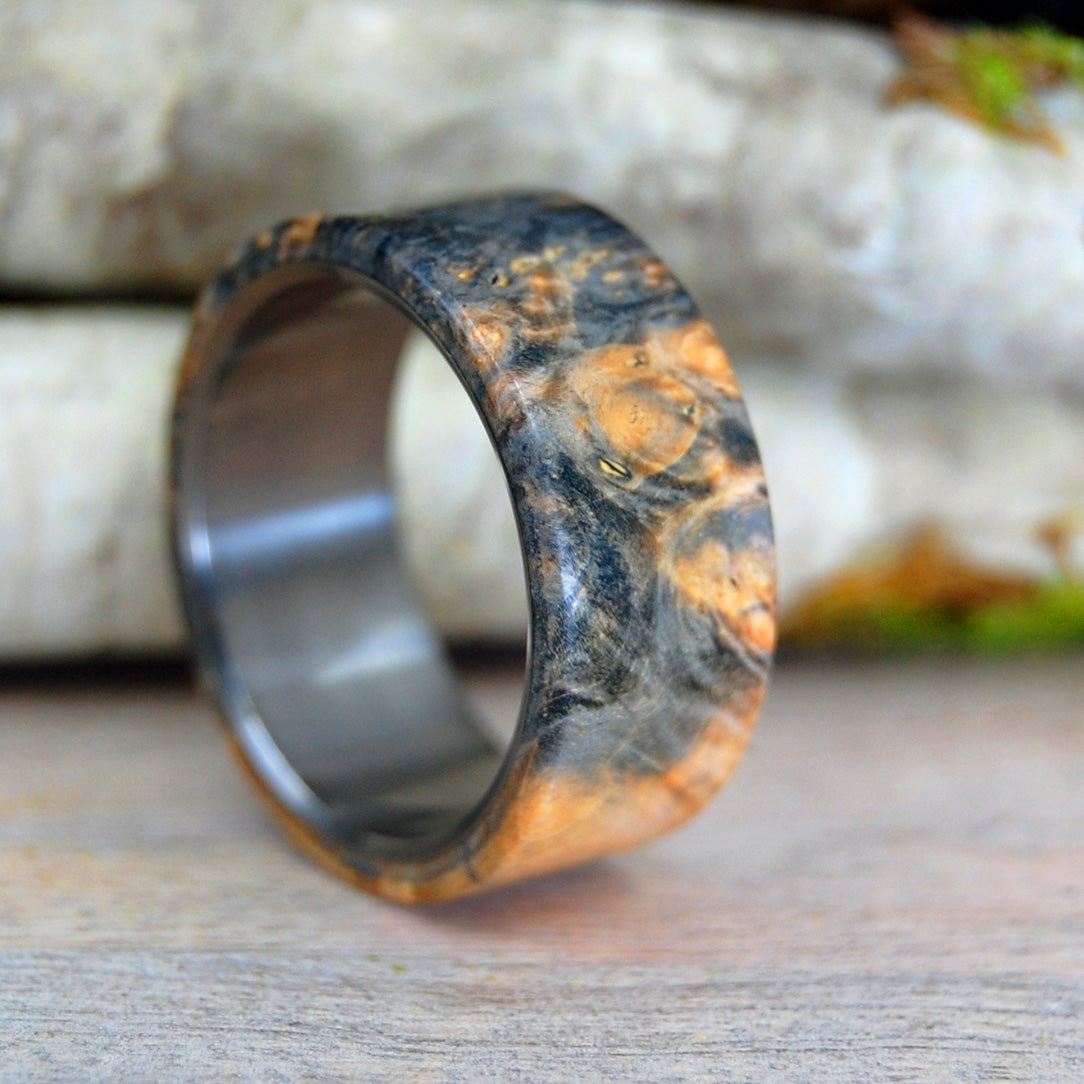 CALIFORNIA KING | Wood & Titanium Wedding Band - Unique Wedding Rings - Minter and Richter Designs