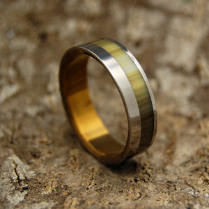 CALYPSO | Cattle Horn & Titanium Wedding Rings - Minter and Richter Designs