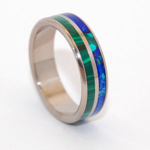 Can't Hold Us Back | Malachite Stone Wedding Rings