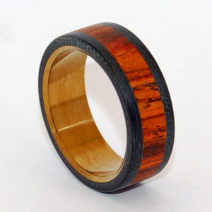 BECAUSE HE CAN | Cocobolo Wood & Carbon Fiber Titanium Men's Rings - Minter and Richter Designs