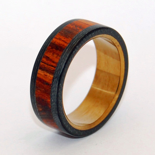 Because He Can | Black Rings, Mens Wedding Rings, Wood Rings
