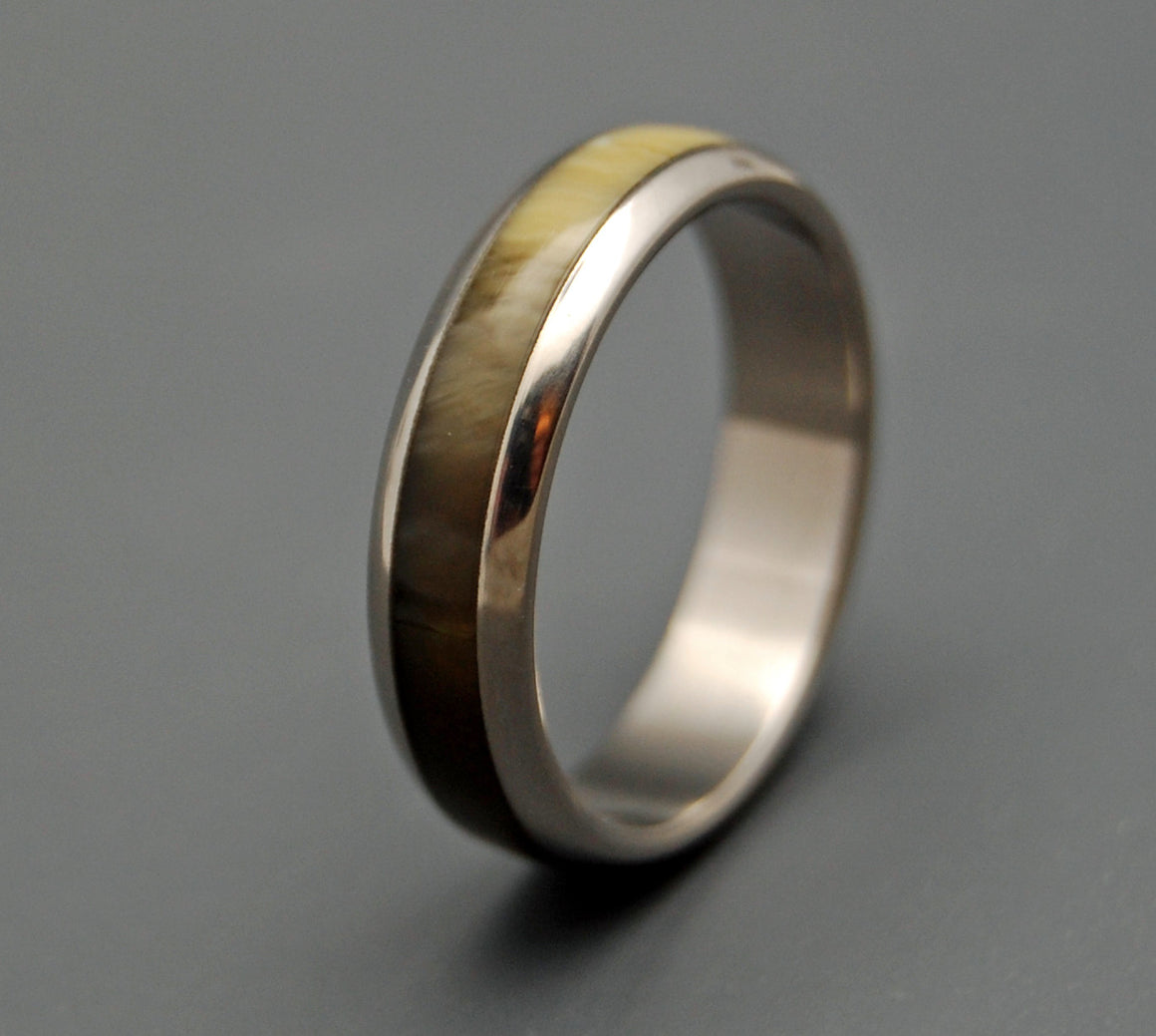 Palomino | Horn and Titanium Wedding Ring - Minter and Richter Designs
