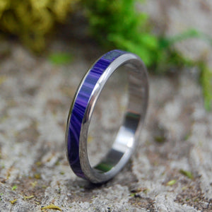 QUEEN CHAROITE | Charoite Stone Women's Purple Titanium Wedding Rings - Minter and Richter Designs