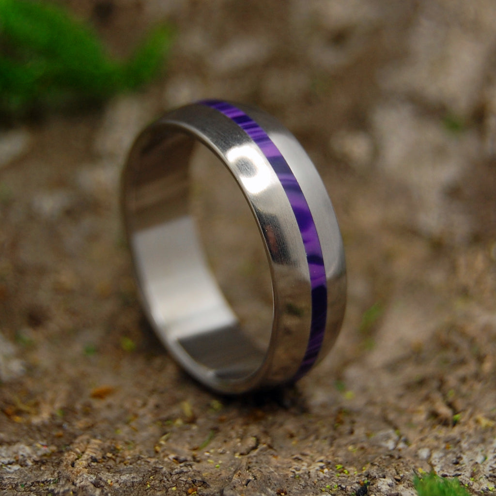 Domed Wedding Band - Womens Wedding Rings | CHAROITE DOME - Minter and Richter Designs