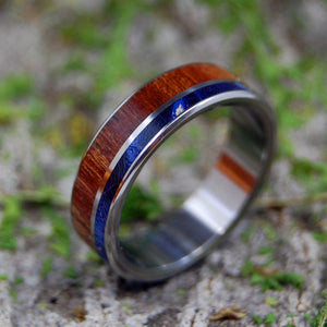 Mens Wedding Rings - Custom Mens Rings - Wood Rings | CHERRY IN THE BLUE WOODS - Minter and Richter Designs