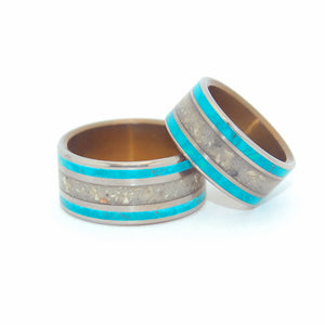 Sea of Galilee | Stone Wedding Rings