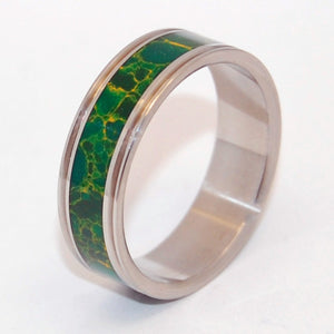 INOX STEEL Cleopatra's Desire | Jade Wedding Ring - Minter and Richter Designs