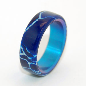 Goblin Ore | Cobalt Stone Wedding Ring - Blue Ring - Mens and Womens Rings